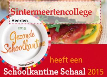 Sintermeerten College ontvangt Schoolkantine Schaal 2015
